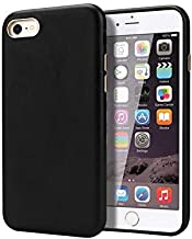 ZStangsk Phone Accessory For iPhone 7 and iPhone 8 Case Cover, 4-edge Protection Premium Synthetic Leather Case Smartphone Bumper BacK Case with Metal Buttons for iPhone 7/8 (Color : Black)