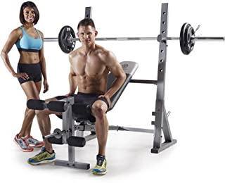 Golds Gym* XR 10.1 Olympic Weight Bench Accommodates Olympic-width 6' and 7' bars