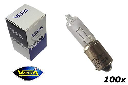 VEGA 100 Ampoules H21W BAY9S Halogène Maxi 12V
