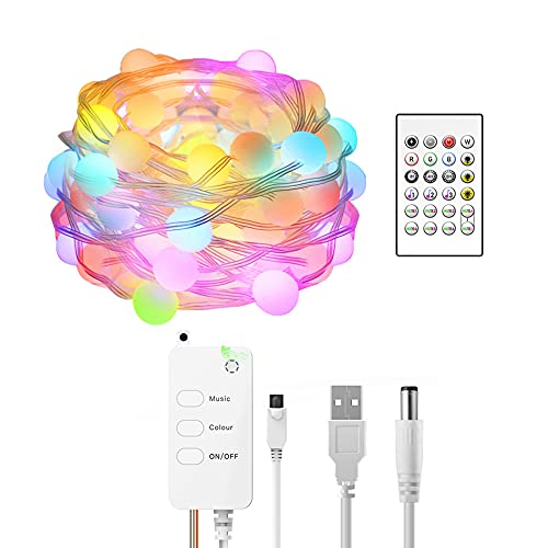 Staright Tuya Smart-Life Tiras de luces Luz de temporización LED a prueba de agua con control remoto Control remoto de voz Control de tiras de colores Luz compatible con Amazon, Google home