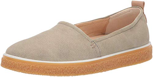 ECCO Women's Crepetray Slip on Loafer Flat, sage, 10-10.5