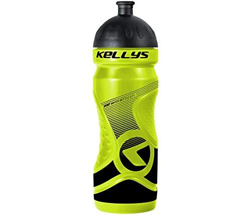 Kellys - Borraccia sportiva da bicicletta, 0,7 litri, collo largo, valvola a strappo nero, blu, verde (lime)