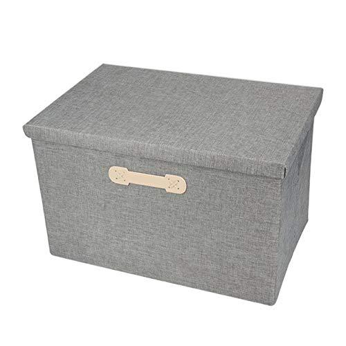 Bolsa de almacenamiento apilable Cubo de caja de almacenamiento plegable con tapas y asas Cesta de almacenamiento de tela Organizador de contenedores Cajones plegables Contenedores para armario
