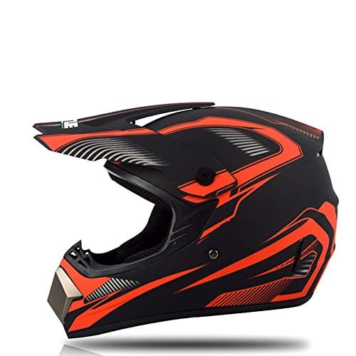 Casco de moto de cross, aprobado por el DOT, casco de motocross, casco todoterreno, casco de motocicleta, MX MTB BMX Downhill para hombres y mujeres, gafas de cuello, guantes S-XL