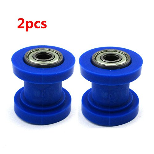 2x 10mm Blue Chain Roller For 250cc 150cc 125cc SSR CRF Dirt Pit Bike Motorcycle