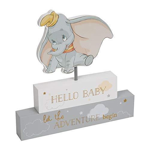 Disney DI471 Plaque Dumbo Hello Baby Block