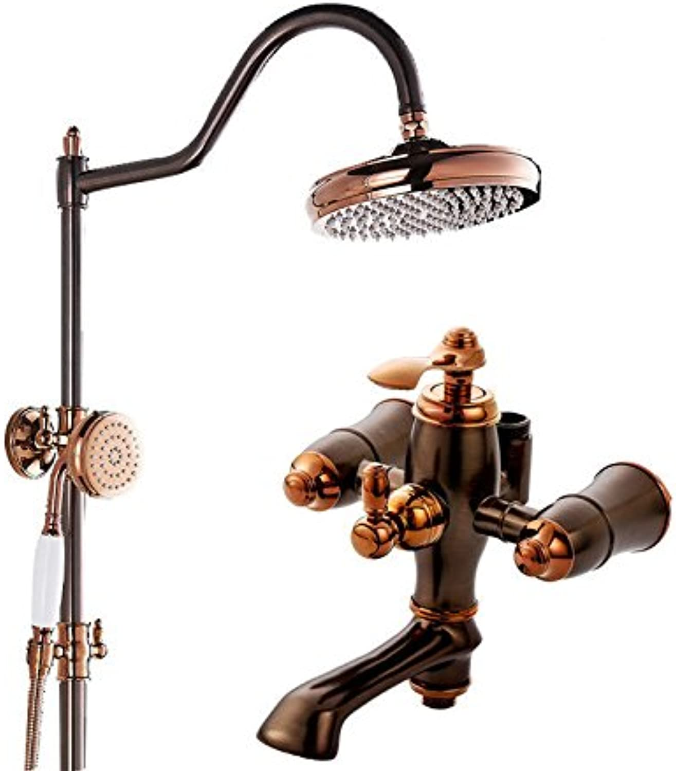 ETERNAL QUALITY Bathroom Sink Basin Tap Brass Mixer Tap Washroom Mixer Faucet Antique pink gold faucets shower faucets C Package Kitchen Sink Taps