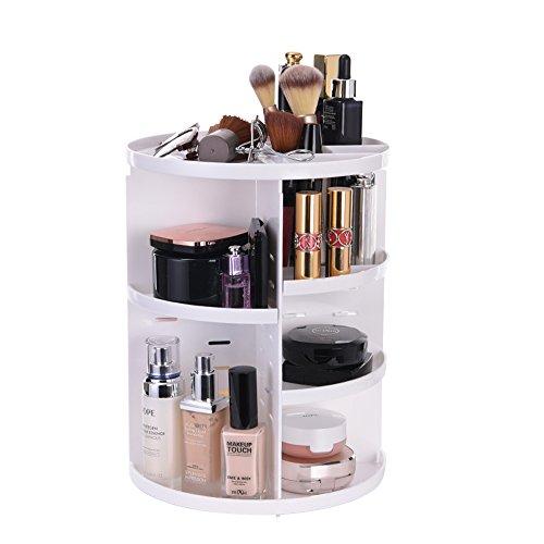 ATPWONZ Organizer per Cosmetici - Trucco Organizzatore Vassoio Girevole a 360 Gradi estetica Multifunzionale di immagazzinaggio Scatola di 8 Strati di