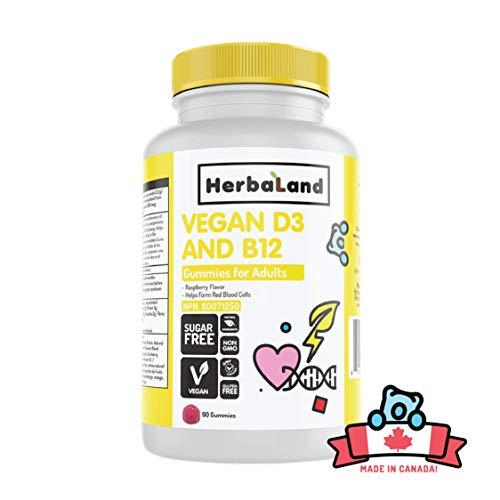 Vegan D3 & B12: Sugar-Free Gummy Vitamins for Adults
