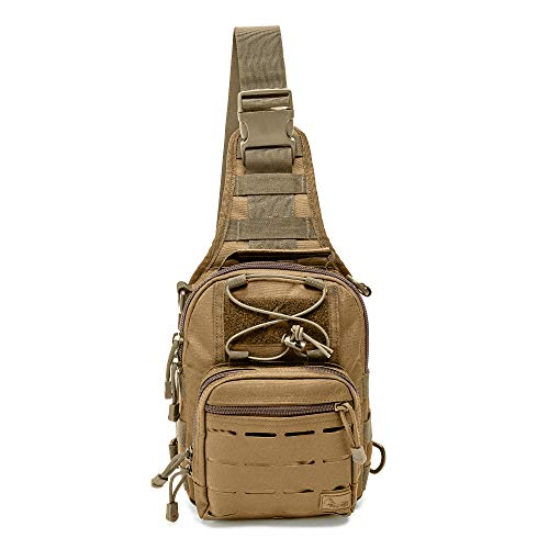 WOLF TACTICAL Compact EDC Sling Bag - Concealed Carry Shoulder Bag for Range, Travel, Hiking, Outdoor Sports