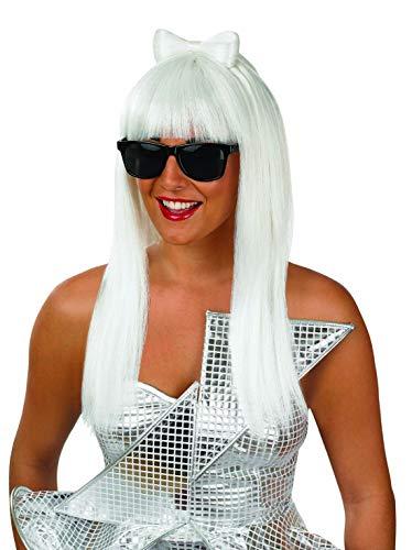 Fun Shack Amarilla Peluca Y Gafas De Estrella del Pop para Mujeres - Un Tamaño