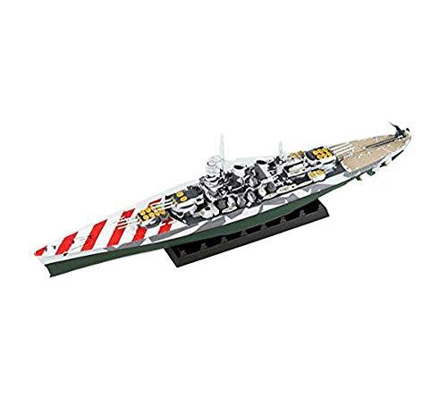 Militare Battleship Puzzle Modello, 1: 700 WWII Italiana Vittorio Veneto Classe Corazzata Giocattoli per Bambini (1.9Inch * 2.8Inch * 13.4Inch)