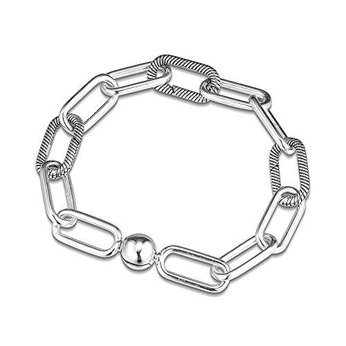 PANDOCCI 2019 Autumn Me - Pulsera de cadena para mujer de plata de ley 925, compatible con pulseras Pandora originales (20 cm)