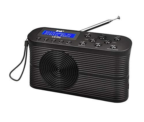 UEME Tragbares DAB+/DAB/UKW Radio, 2W Lautsprecher, Kopfhöreranschluss, Zweizeiligem Display, Tastensteuerung, Klein (schwarz)