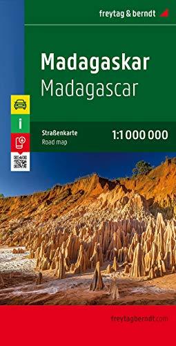 Madagaskar, Autokarte 1:1 Mio.: Wegenkaart 1:800 000 (freytag & berndt Auto + Freizeitkarten)