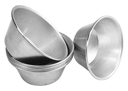 Vespa 924100 Timball Confezione 6 Formine, Alluminio, 7.5x3 cm, Antracite, 6 unità