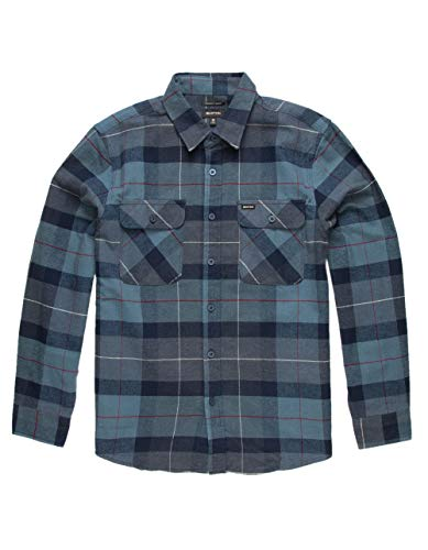 BRIXTON Hemd Bowery Flannel (Navy Carolina Blue) L