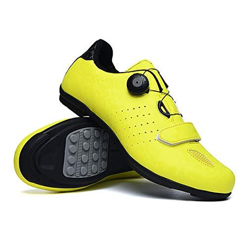 Kstyhome Scarpe da Ciclismo per Bici da Strada MTB da Uomo Scarpe da Spin Scarpe da Bici a Pedale con Blocco Scarpe da Bicicletta ultraleggere e comode con Blocco Automatico