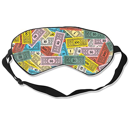 Monopoly Monopoly Augenmaske, superweiche Augenbinde mit verstellbarem Riemen, für Damen und Herren, Schlafmaske, Reisen, Nickerchen, Nachtschlafen, Augenschutz