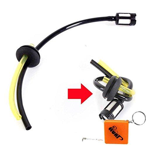 HURI Benzinschlauch mit Benzinfilter Gummitülle passend für Zipper ZI-MOS145, ZI-MOS145G, ZI-MOS125, MOS 911 Motorsense Freischneider 1,25kW 42ccm