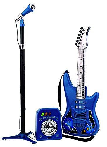 Reig 843 Dr. Sound Chitarra a 6 Stringhe e Microfono con Amplificatore