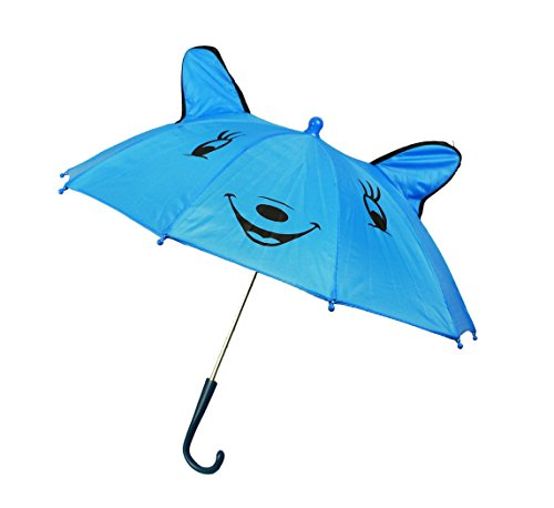HAAC Regenschirm Schirm Kinderregenschirm mit Smile Gesicht blau