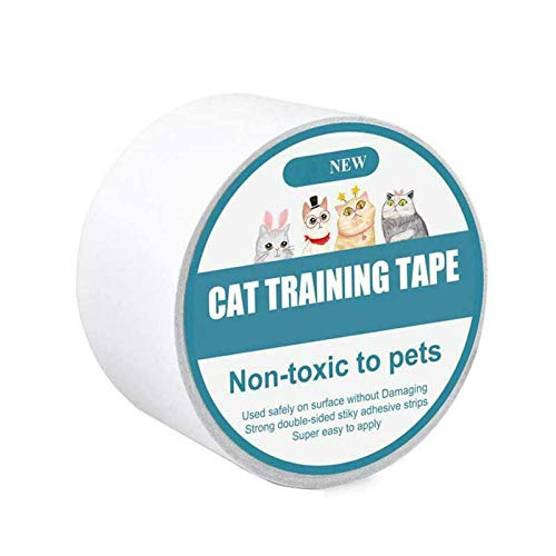 Anti-Scratch Cat Scratching Abschreckungsband, Scratch Control Aid, doppelseitige Cat Training Sticky Strips, Stop Cat Scratching Möbelschutz, klar (s)