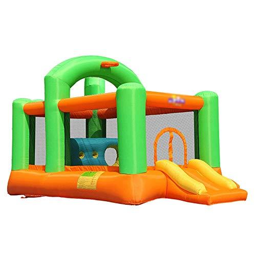 YM963 Gorila Inflable, Dunk Playhouse con aro de Baloncesto, de tamaño Completo de Entrada, Diapositivas Castillo Salta con el Ventilador (430 x 235 x 245cm) Aire Libre y Deportes