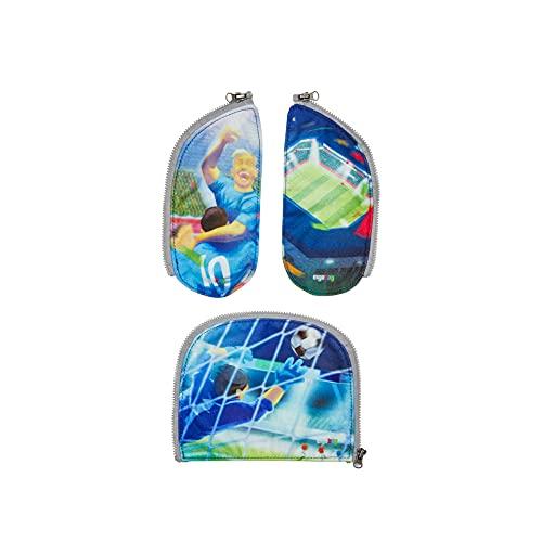 ergobag Zippies - Schulranzen Zubehör Set 3-teilig für Kinder, Jungen und Mädchen - Fussball - Grün