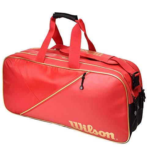 Wilson(ウイルソン) テニス バドミントン ラケットバッグ OTHERS RECTANGLE BAG IV(レクタングルバッグ) ラケット6本収納可能 レッド WR8002101 ウィルソン