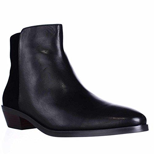 Coach Carmen Women Round Toe Suede Black Ankle Boot, Black/Black, Size 6.0
