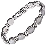 Helena Rose Magnetic Therapy Bracelet for Women - Semi Precious Cats Eye Stones