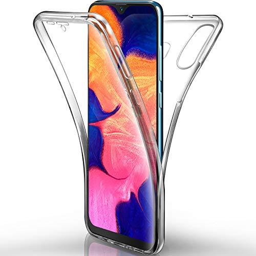 AROYI Funda Samsung Galaxy A10 Transparente,Silicona Doble Cara Carcasa 360°Full Body Protección,Anti-Arañazos Suave Case para Samsung A10