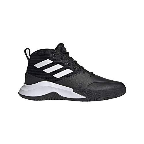 adidas OWNTHEGAME, Zapatillas de Baloncesto Hombre, NEGBÁS/FTWBLA/NEGBÁS, 44 2/3 EU