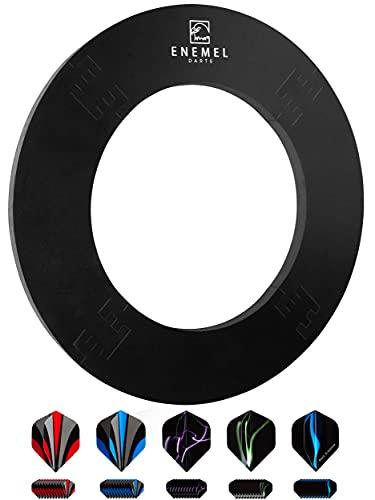 ENEMEL® Dart Surround 18 Zoll – inkl. 60 Ersatz-Flights – Dartscheibe Schutzring – Dickes Material (Ø45,5cm)