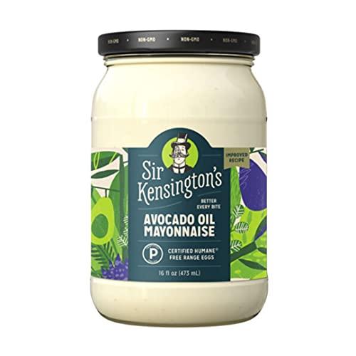 Sir Kensington's Mayonnaise Avocado Oil Paleo Certified, Keto Certified, Gluten Free, Certified Humane Free Range Eggs 16 Fl Oz (Pack of 1)