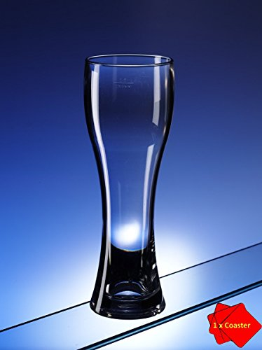 Avenue's Ultra-Premium bierglas/pintglas van onbreekbaar polycarbonaat. Inhoud: 568 ml. Zeer geschikt voor gebruik in huis en buitenshuis en vaatwasmachinebestendig. Ideaal voor het nemen van glamping, kamperen, op boten, bij het zwembad enz. Bevriest in 5 minuten om het perfecte matglas te maken voor een ijskoud bier! Wordt geleverd met AIOS onderzetter.