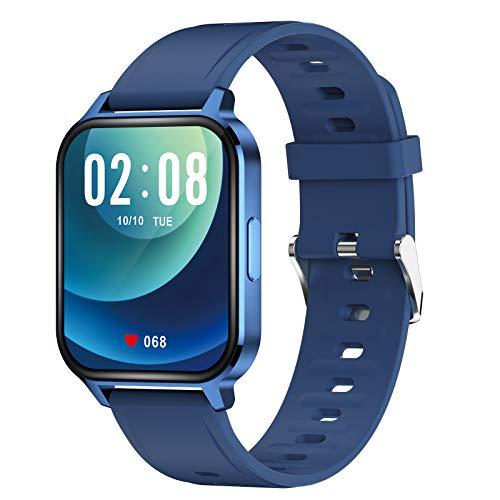 TWW Smart Watch Für Männer, Frauen, Fitness-Tracker-Telefone, wasserdichte Sportuhr IP68 Zum Zoomen Über Das Bild Rollen,Blau