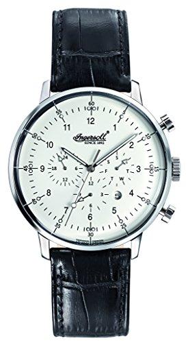 Ingersoll Herren Chronograph Automatik Uhr mit Leder Armband IN2816WH (AmazonUk/ZEOW4)