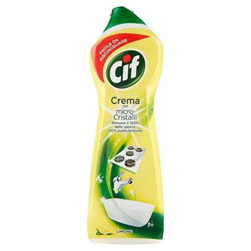 Cif Crema Limone, Detergente Per Superfici Dure - 750 ml