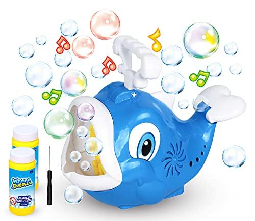 SWAGITLOUD Bubble Machine Fish Bubble Blower 1000+ Bubbles Per Minute, Automatic Bubble Machine for Kids Toddlers Boys Girls Baby Bath Toys Indoor Outdoor, Cute Bubble Maker