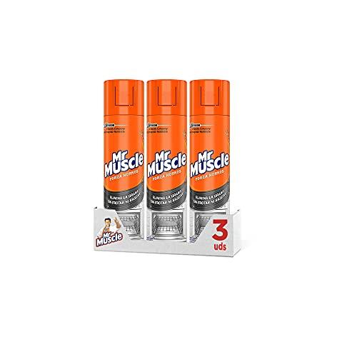 Mr Muscle 300 ml Limpiahorno Forza-Gel de Limpieza para hornos, Gran Poder desincrustante en frío, Formato [Pack de 3]