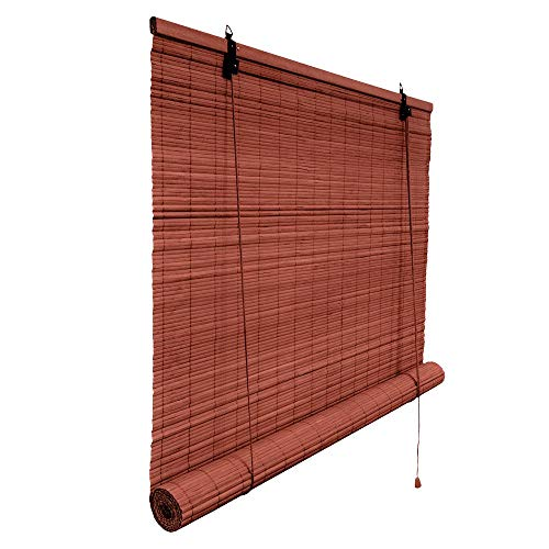 Victoria M. - Klemmfix Persiana Estor de bambú para Interiores 70 x 160 cm, Color Cereza - Montaje sin perforación
