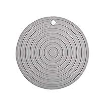 Mei-YY コースター ラウンド断熱パッドシリコーンカップコースターノンスリップポットプレイスマットキッチンアクセサリー 収纳 (Color : Grey)