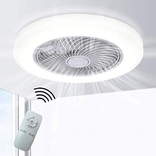 H.W.S Deckenventilator Mit Beleuchtung Creative Deckenleuchte Led Dimmbare Deckenlampe Fan Deckenleuchte Fernbedienung Ultra-Leise Kann Modernes Wohnzimmer Schlafzimmer Lampe Φ58 H20Cm