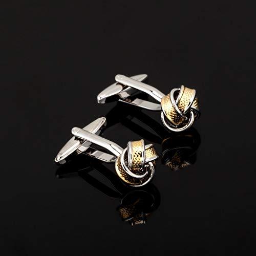 jiao Fashion Edelstahlknoten Manschettenknopf für Herrenhemd Markenanzug Manschettenknöpfe Manschettenknöpfe Schmuck