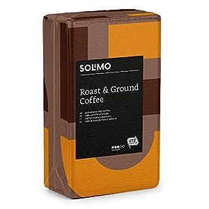 Marque Amazon Solimo Café moulu compatible avec tout usage - certifié UTZ, 2 kg (4 x 500g)