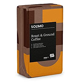 Amazon Brand – Solimo Ground Coffee Compatible with all use – UTZ Certified – 2 kg (4 Brick Packs x 500g)