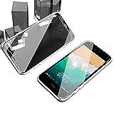 iPhone SE2 ケース 第2世代 iPhone 8 ケース iPhone 7 カバー 透明 両面 強化 ガラス アルミ バンパー 360°全面保護 アイフォン 7 8 se2 ケース マグネット式 ワイヤレス 充電対応 軽量 薄型 擦り傷防止 耐衝撃 シルバー