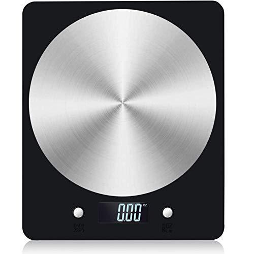 U/N Báscula de Cocina Digital, 11 LB / 5 kg Báscula electrónica para cocinar Alimentos con Pantalla LCD Plataforma de Acero Inoxidable Báscula para Hornear y cocinar Báscula para Hornear